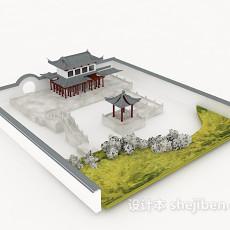 户外古建筑3d模型下载