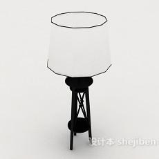 简朴落地灯3d模型下载