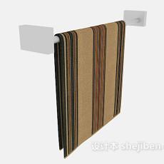 浴室毛巾杆3d模型下载