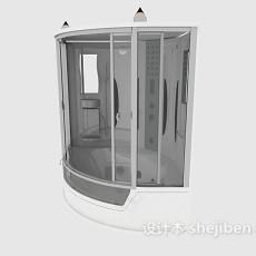 家庭整体浴室3d模型下载