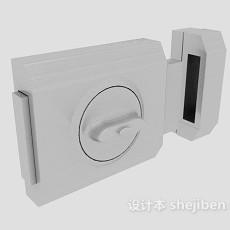 门锁3d模型下载
