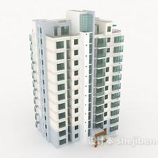 户外高楼建筑3d模型下载