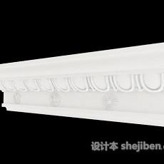 白色构件石膏线3d模型下载