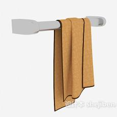 家居卫浴毛巾3d模型下载