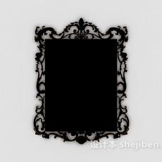 欧式风格家居花边镜子3d模型下载