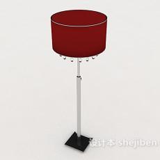 红色室内落地灯3d模型下载