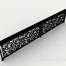 欧式风格家居栏杆3d模型下载