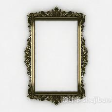 欧式风格花边镜子3d模型下载