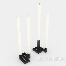 家庭照明蜡烛3d模型下载