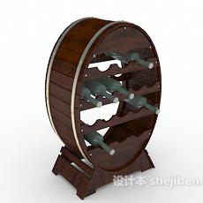 古典酒柜3d模型下载
