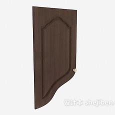 实木橱柜门3d模型下载