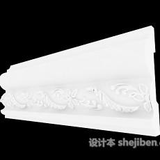 白色雕花石膏线3d模型下载