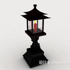 中式庭院灯3d模型下载
