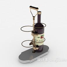 简约小型酒架3d模型下载