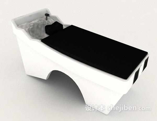 理发店洗头椅_理发店3d模型下载-设计本3D模型下载