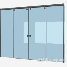 推拉式玻璃门3d模型下载