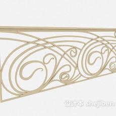家居金属栏杆3d模型下载