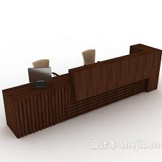 酒店大堂班台3d模型下载