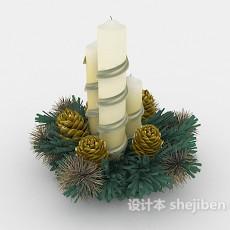 家居照明蜡烛3d模型下载