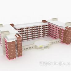 学校建筑3d模型下载