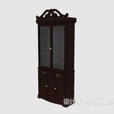 欧式实木办公柜3d模型下载