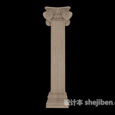 罗马石柱3d模型下载