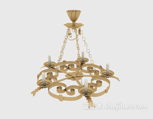 吊灯模型下载_欧式家居吊灯、壁灯、烛台灯3d模型下载-设计本3D模型下载