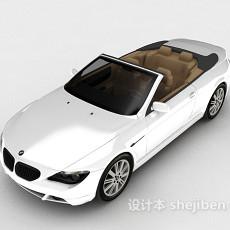 白色宝马跑车3d模型下载
