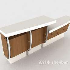 简约大方实木班台3d模型下载