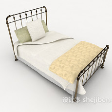 铁艺单人床3d模型下载