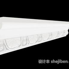 家居白色石膏线3d模型下载