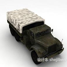 军用卡车3d模型下载