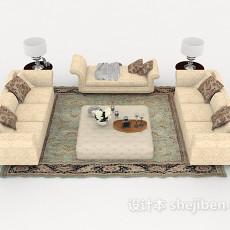 简约新古典组合沙发3d模型下载