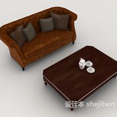 新古典风格多人沙发3d模型下载