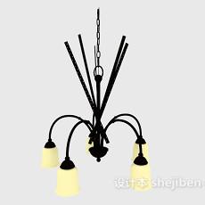 北欧风格居家吊灯3d模型下载