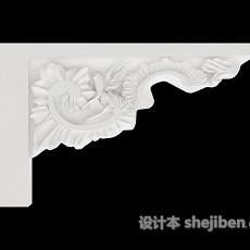花边石膏线3d模型下载