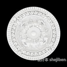 石膏灯盘结构3d模型下载
