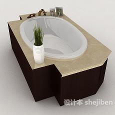 家居型浴缸3d模型下载