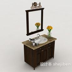 家居浴室柜3d模型下载