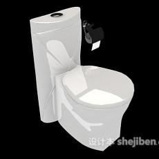 居家式马桶3d模型下载