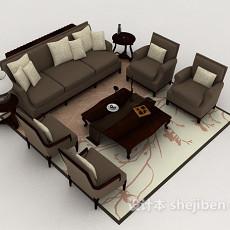 新古典风情组合沙发3d模型下载