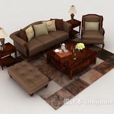 新古典居家组合沙发3d模型下载