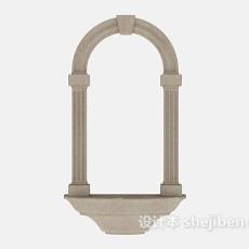欧式石门结构3d模型下载