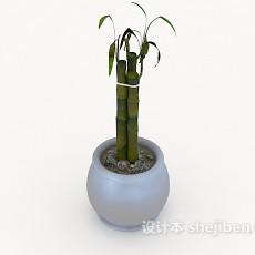 柱子盆景3d模型下载