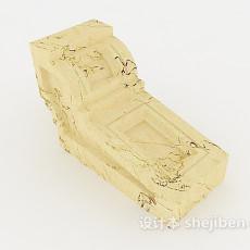 浅色大理石构件3d模型下载