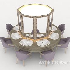 美容院化妆桌椅3d模型下载