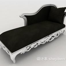 欧式黑色休闲沙发3d模型下载