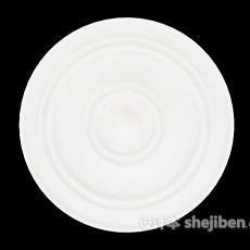 简单大方石膏灯盘3d模型下载