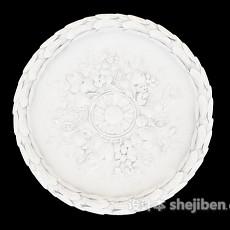 花纹石膏灯盘3d模型下载