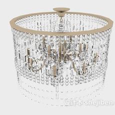 大型水晶居家吊灯3d模型下载
